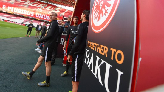 Die Eintracht-Fans in Stimmung