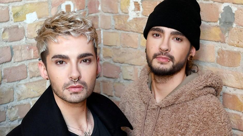 Bill Kaulitz (l.) und Tom Kaulitz, Musiker der Band Tokio Hotel