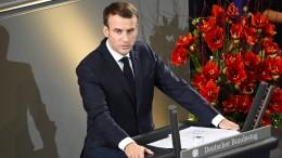 Macron lobt deutsche Geschichtsaufarbeitung