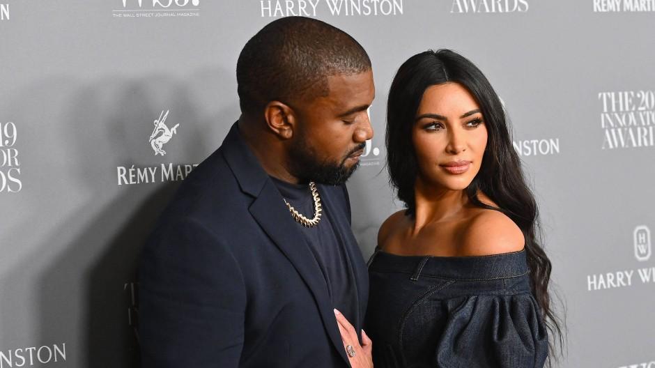 Kanye West und Kim Kardashian West bei einer Award-Show im Jahr 2019
