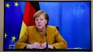 Für den Naturschutz: Bundeskanzlerin Angela Merkel spricht auf dem digital abgehaltenen Gipfel in Paris.
