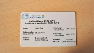 Altötting vergibt erste digitale Corona-Impfkarte