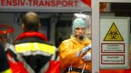 Strenge Sicherheitsvorkehrungen im Frankfurter Universitätsklinikum