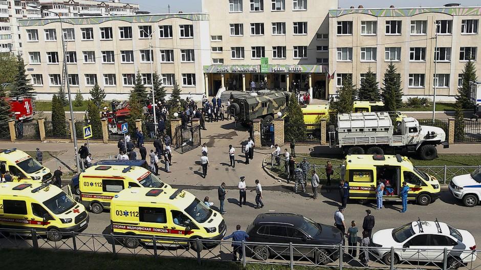 Angriff auf eine Schule in Kasan, Russland