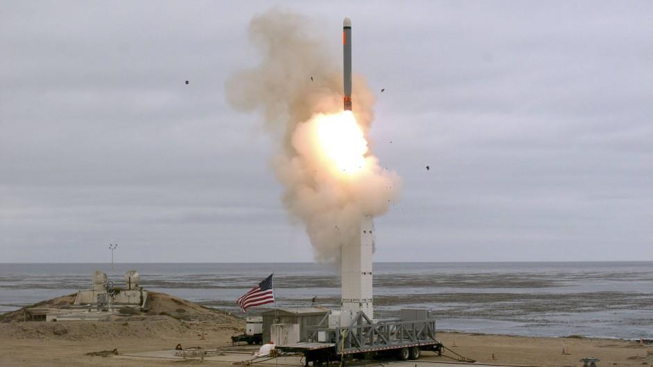 Das amerikanische Militär hat nach eigenen Angaben am 18. August 2019 einen Marschflugkörper auf der kalifornischen Insel San Nicolas getestet.