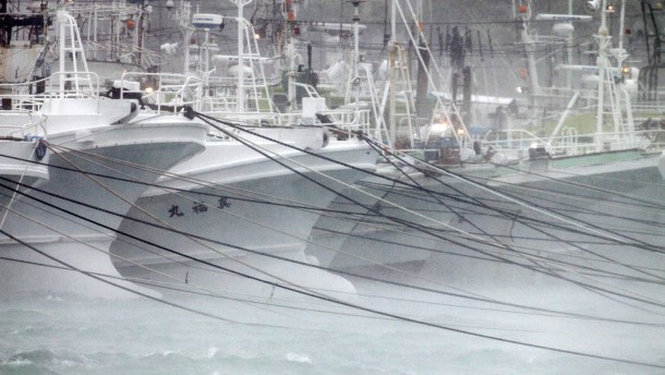 Erste Sturmausläufer erreichen Japan