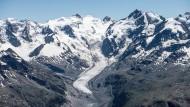 Der Morteratschgletscher in der Schweiz