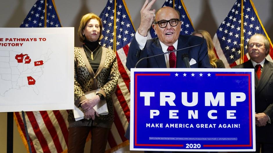 Voller Einsatz: Giuliani ist persönlicher Anwalt von Präsident Trump.
