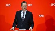 Einer der Interimsvorsitzenden der SPD: Thorsten Schäfer-Gümbel