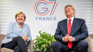 Merkel und Trump in Biarritz überraschend harmonisch