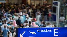 Unerwartet viele Fluggäste am Frankfurter Flughafen