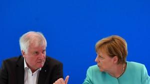 Merkel und Seehofer wollen sich vertragen