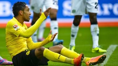 Am Boden in der Bundesliga: Borussia Dortmunds Pierre-Emerick Aubameyang
