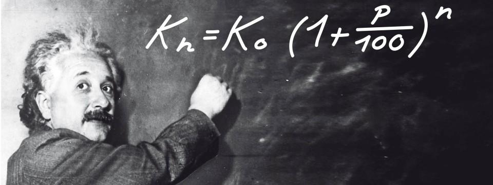 Albert Einstein und die Formel für den Zinseszins