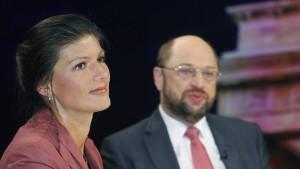 Wagenknecht will mit Schulz koalieren, wenn ...
