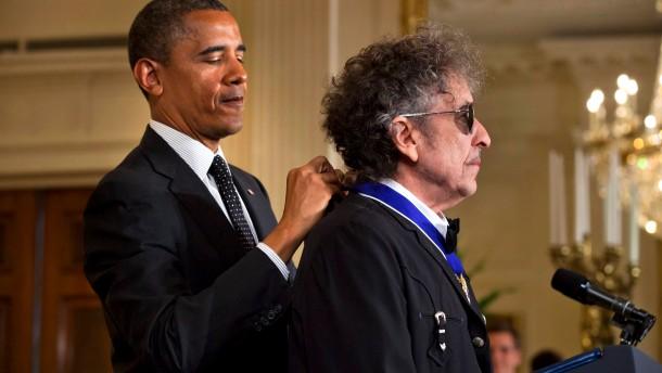 Freiheitsmedaillen für Dylan und Morrison