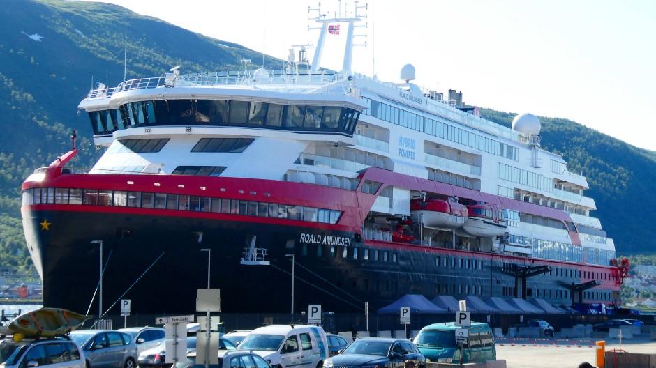 Reise gestoppt: Die MS Roald Amundsen bleibt in Tromsø.