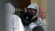 Verdächtiges Pulver im deutschen Konsulat