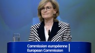 EU-Finanzmarktkommissarin Mairead McGuinness: Sie ist mit der Umsetzung der Basler Bankenregeln zufrieden.