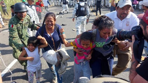 Mexikos Nationalgarde stoppt rund 1000 Migranten