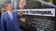 Bodo stellt sich vor: Der thüringische Ministerpräsident und Spitzenkandidat der Linken  Anfang September bei der Präsentation seiner Wahlkampagne