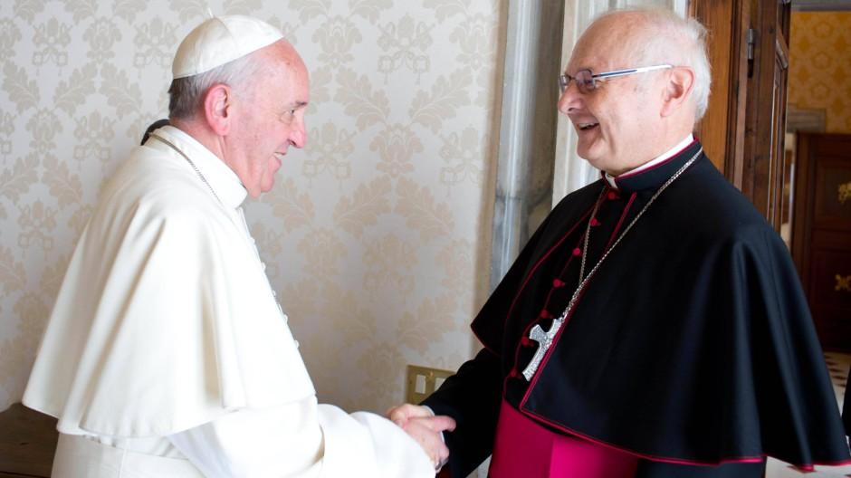Erzbischof Robert Zollitsch trifft den Papst