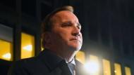 Unter Tränen am Anschlagsort: Stefan Löfven, Ministerpräsident von Schweden