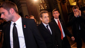 Nicolas Sarkozy in Frankfurt am Main