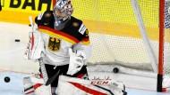 Beim Endspiel gegen Lettland setzt das deutsche Eishockey-Team auf Torwart Grubauer.