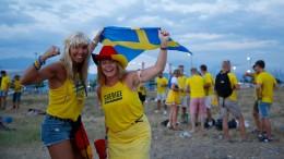 Schweden tanzt sich warm