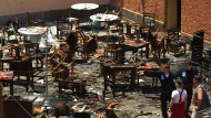 Blutige Saat des Hasses: Der Ort einer der Anschläge vom 16. Mai 2003 in Casablanca