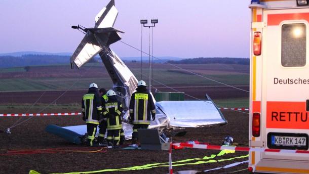 Ultraleichtflugzeug wegen Pilotenfehlers abgestürzt