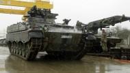 Deutsche Panzer in Litauen angekommen
