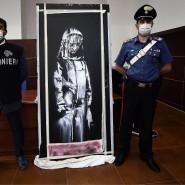Die berühmte Tür war vor gut zwei Wochen in einem Landhaus in der italienischen Region Abruzzen gefunden worden.