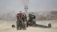 Selfie an der Front: schiitische Kämpfer vor Falludscha