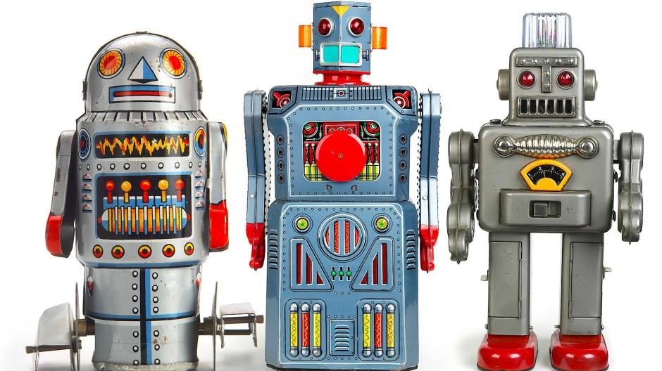Spielzeugroboter.