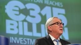 Juncker feiert seinen Investitionsplan – trotz Kritik