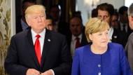 Merkel und Trump beraten sich vor G-20-Gipfel