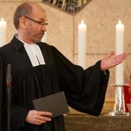 Der scheidende Präses Manfred Rekowski im Eröffnungsgottesdienst der Synode am 12. Januar 2021