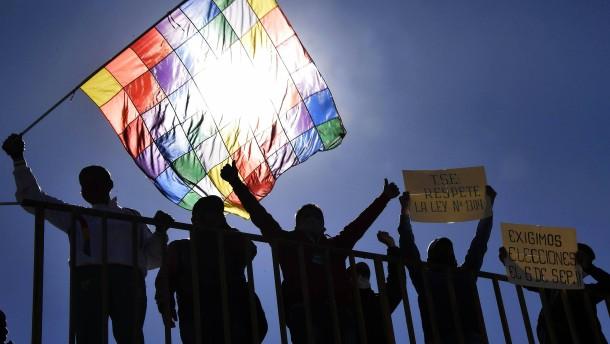 Proteste in Bolivien gegen erneute Wahlverschiebung