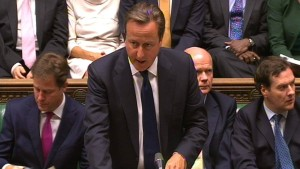 Camerons Gefecht nach Milibands Rückzug