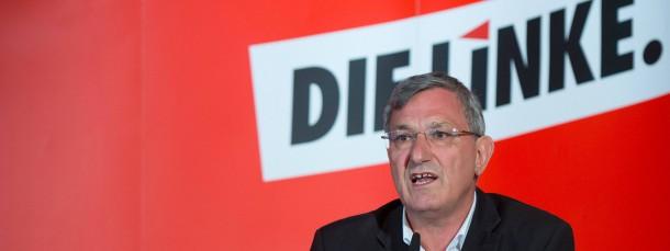 """Der Parteivorsitzende der Linkspartei, Bernd Riexinger, fordert Bundespräsident Joachim Gauck zu """"mehr Zurückhaltung"""" auf dem Feld der Außenpolitik auf"""