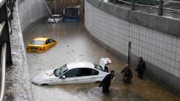 Regenfälle fluten Ankara