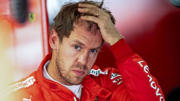 Ein gefährlicher Moment für Chefpilot Vettel