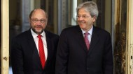 Schulz wirbt in Rom für Solidarität