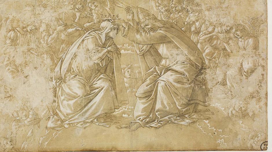 Kleinod aus der kunsthistorischen Sammlung: Sandro Botticellis Die Krönung Mariens (um 1488)