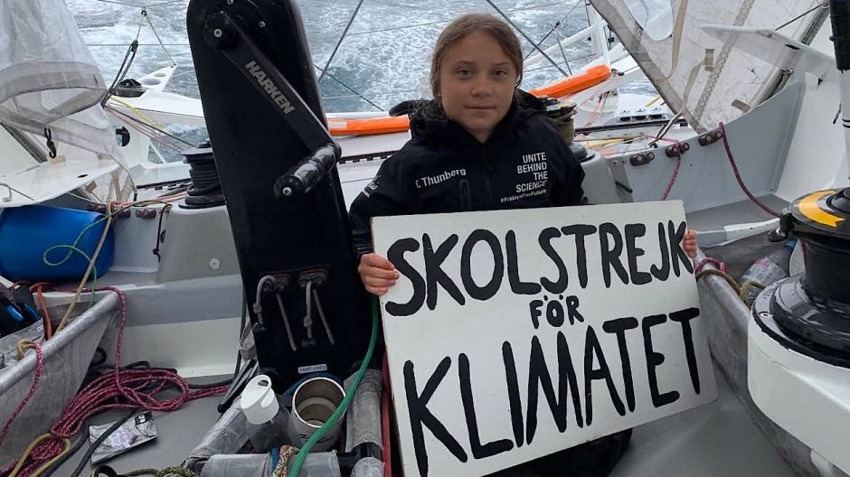 "Greta Thunberg reist im August 2019 an Bord der ""Malizia II"" über den Atlantik."