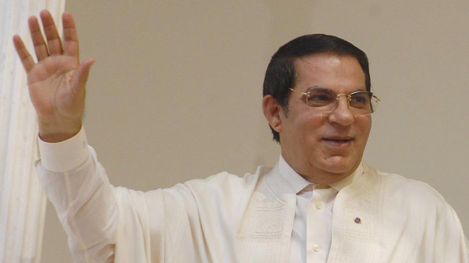 Der ehemalige tunesische Präsident Ben Ali im August 2009