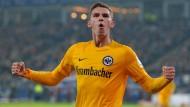 Mit breiter Brust nach Bremen: Branimir Hrgota und der Eintracht mangelt es nicht an Selbstbewusstsein.