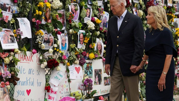 US-Präsident Biden zu Besuch in Florida
